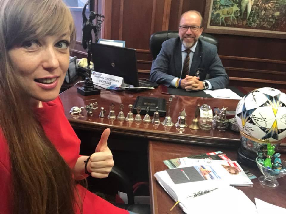 Ганна Крисюк зустрілась з президентом ТППУ – Геннадієм Чижиковим