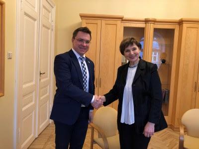 А. Біденко відвідав з робочим візитом Латвію