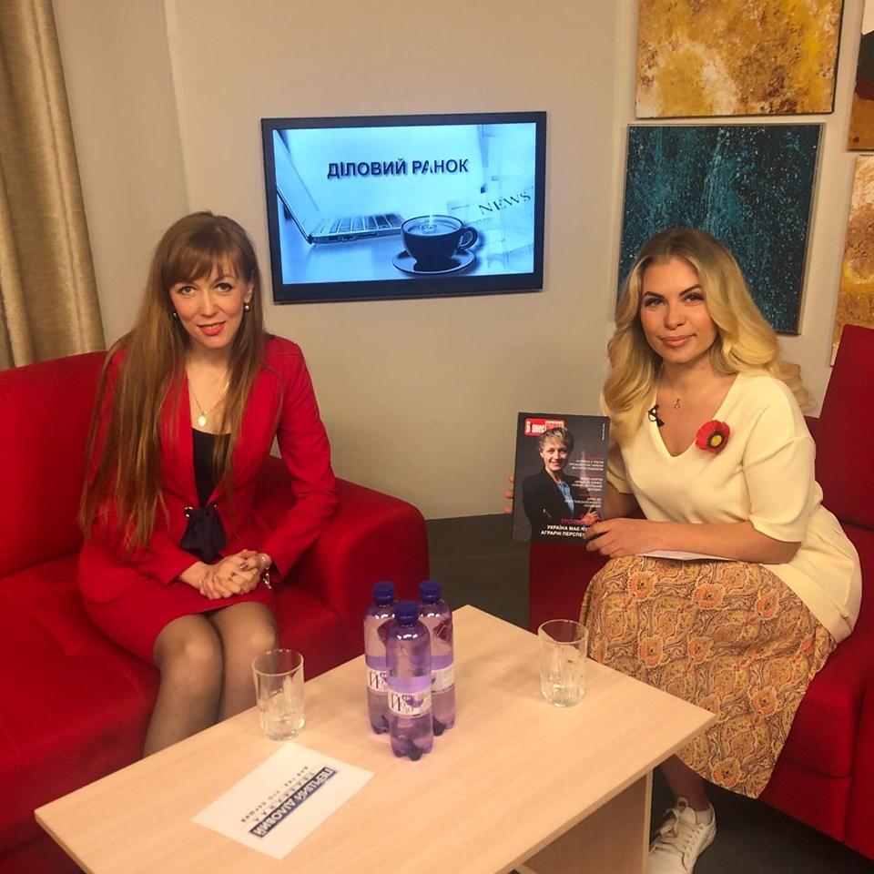 """Ганна Крисюк взяла участь в ефірі програми """"Діловий ранок"""""""